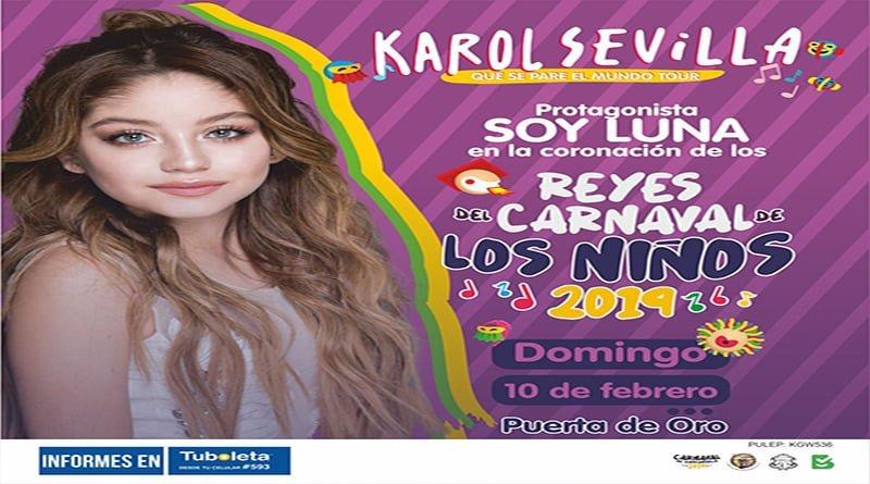 Por primera vez en Barranquilla Karol Sevilla, invitada a Coronación de lsabella y Cesar