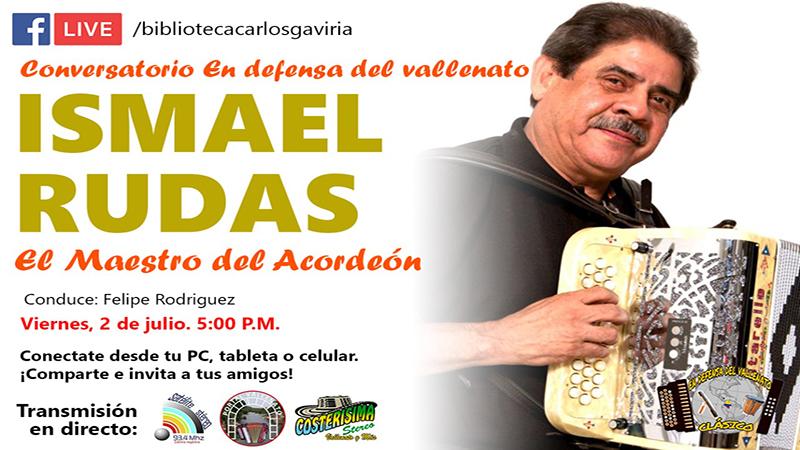 Ismael Rudas, Acordeonero invitado a Conversatorio Musical