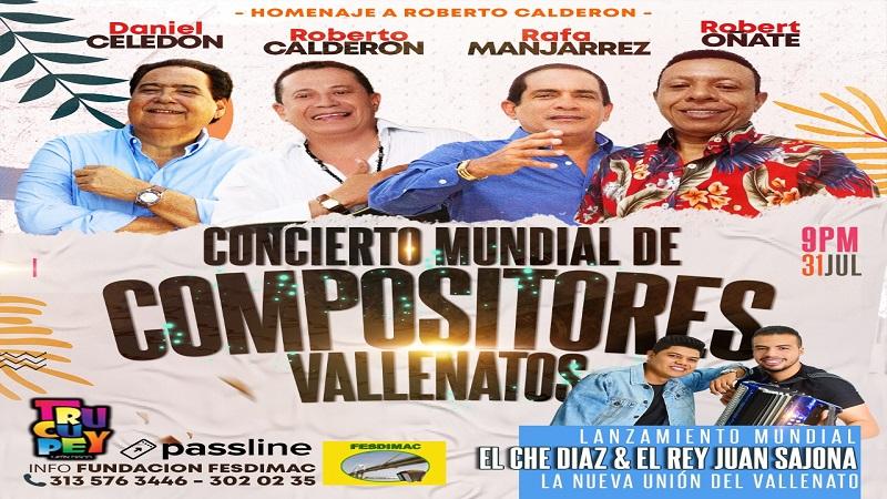 Concierto Mundial de Compositores Vallenatos-Julio 31 del 2021