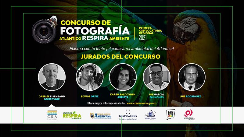 """Universidad Americana y la C.R.A. presentan: Primer concurso de fotografía ambiental """"Atlántico respira ambiente 2021"""
