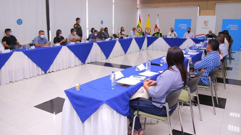 Gobernación del Atlántico socializó con alcaldes municipales el Plan Estratégico de Seguridad de fin de año